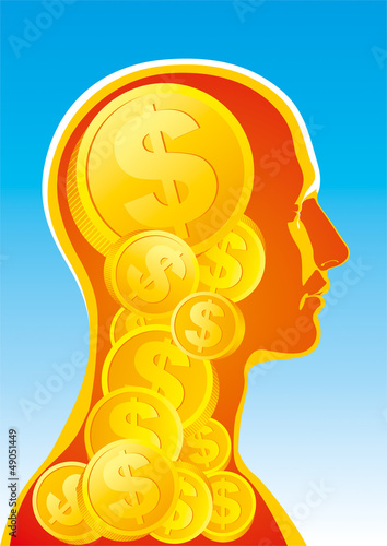 Abstract image of money man