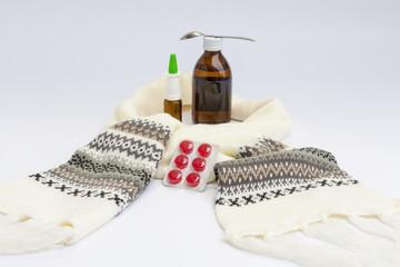 Syrup, lozenge & blanket all for health