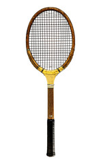 isolated tennis racket and ball