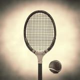 old vintage tennis racket
