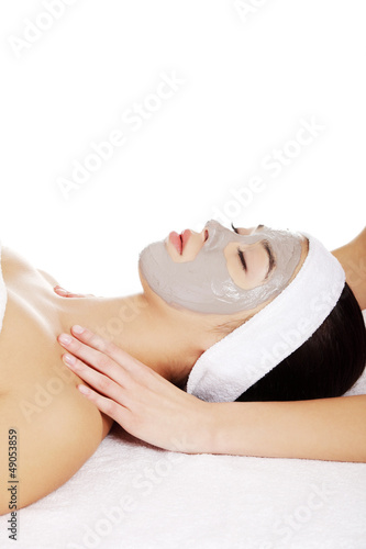Woman enjoy receiving head massage