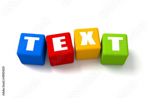 Text Colored Cubes