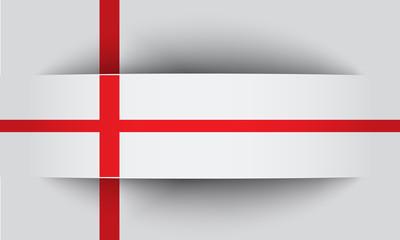 Banner in englischen Farben