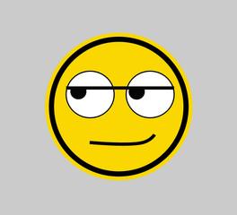 Smirk -SMILEY FACE