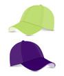 baseball cap violet+light green