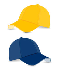 baseball cap deep blue+yellow