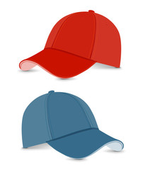 baseball cap blue+red