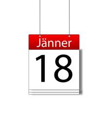 Kalenderblatt 18. Jänner