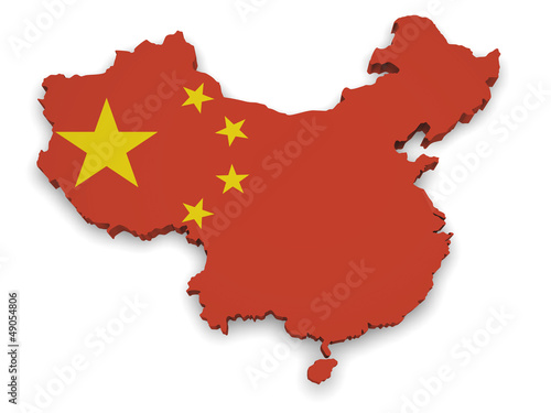 China Map 3d Shape