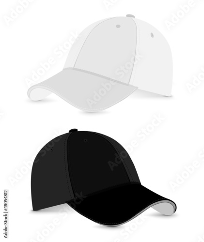 baseball cap_white+black