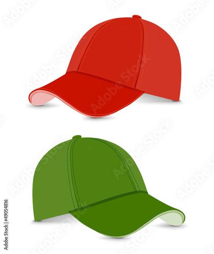 baseball cap green+red