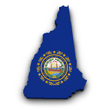 New Hampshire Flag Map Shape