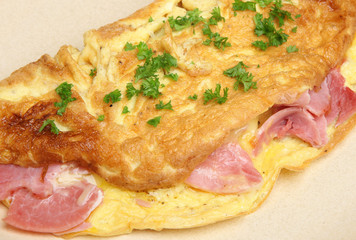 Omelet with Ham & Cheese