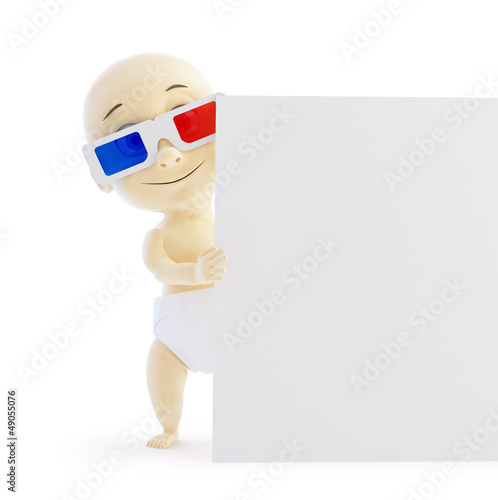 baby 3d blank on a white background