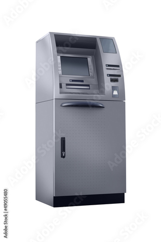 cash machine isolated retouched