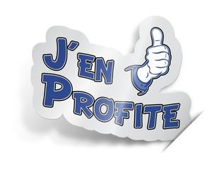 """Etiquette """"J'en Profite"""""""