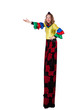 jester on stilts