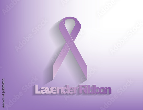 Lavender awareness Ribbon