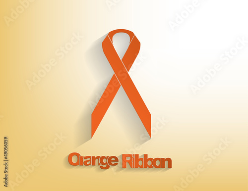 Orange awareness Ribbon