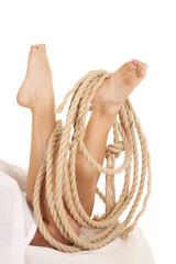 Legs under sheet rope