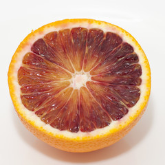 Red orange isolated