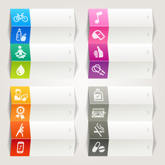 Rainbow - Health and Fitness icons / Navigation template