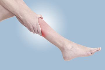 Acute pain in a woman calf