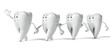 3d rendered illustration of a tooth character