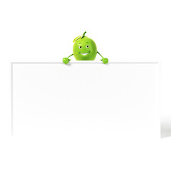 3d rendered illustration of a lime character