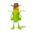 3d rendered illustration of a corn cob character