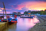 Amazing sunset at the harbor of Koh Kho Khao island, Thailand