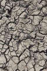Drought - dry cracked soil.