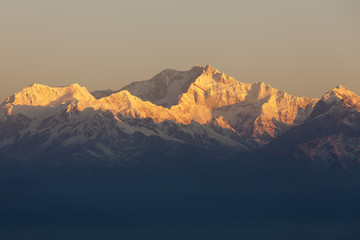 Mount Kanchenjunga from Tiger Hill. Darjeeling.