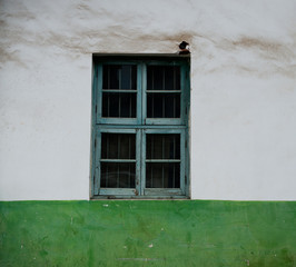 Decorative green window