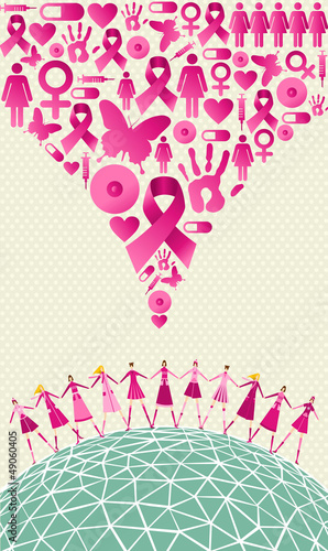 Global breast cancer awareness splash