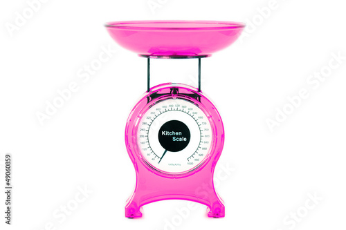 Magenta kitchen scales