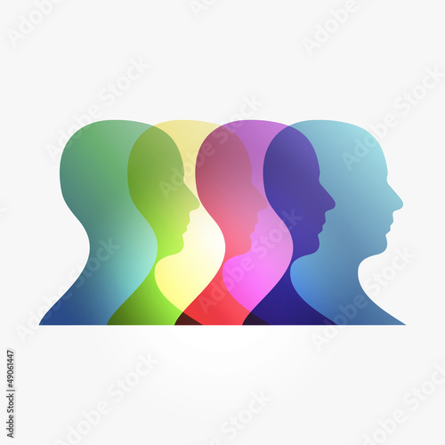 Rainbow transparency heads