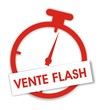 étiquette chrono vente flash
