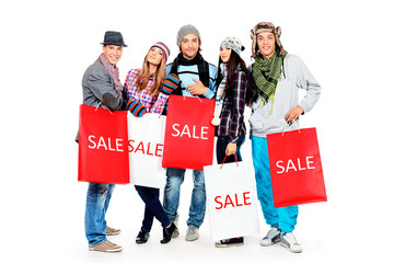 group of shoppers