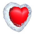 Frozen heart in ice shell