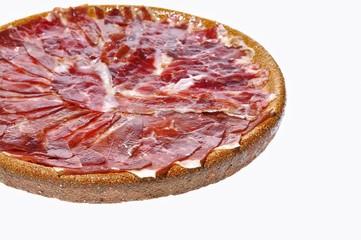 Spanish iberian ham.