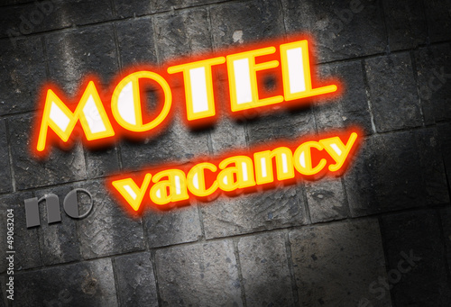 Motel neon light Sign