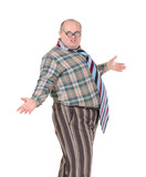 Obese man with an outrageous fashion sense poster