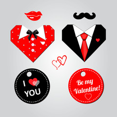 Stickers for Valentine day