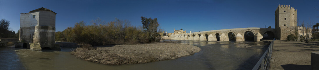 Guadalquivir river panoramic, Cordoba, Spain