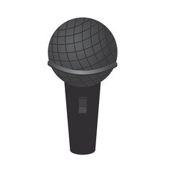 Single wireless microphone on white background