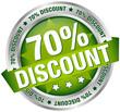 "Button Banner ""70% Discount"" grün/silber"