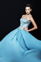 woman wearing in wedding dress
