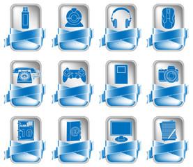Blue Vector Icon Set