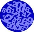 vignette bleue et chiffres